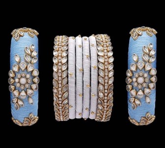 silk thread bangles.from pakistani jewelers jaipur and co