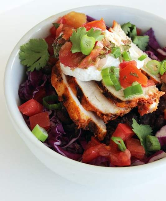 healthy burrito bowl for fast and easy dinner ideas