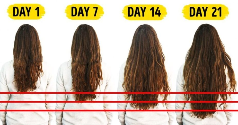 how to grow hair fast info graphic