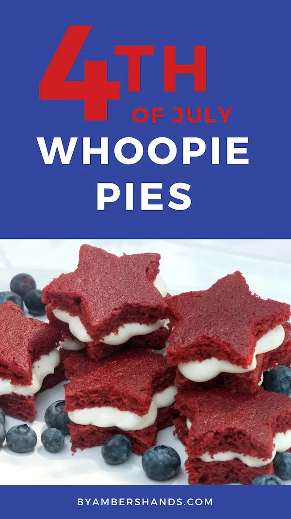 4th of July Whoopie Pies perfect for a patriotic barbecue!