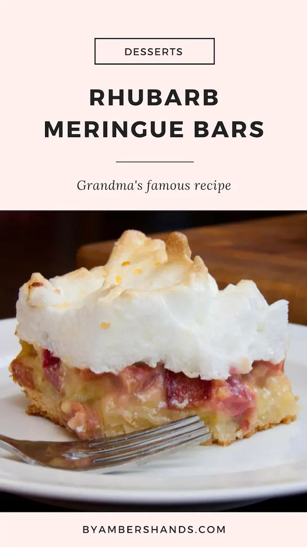 Rhubarb Meringue Bars -by amber's hands-
