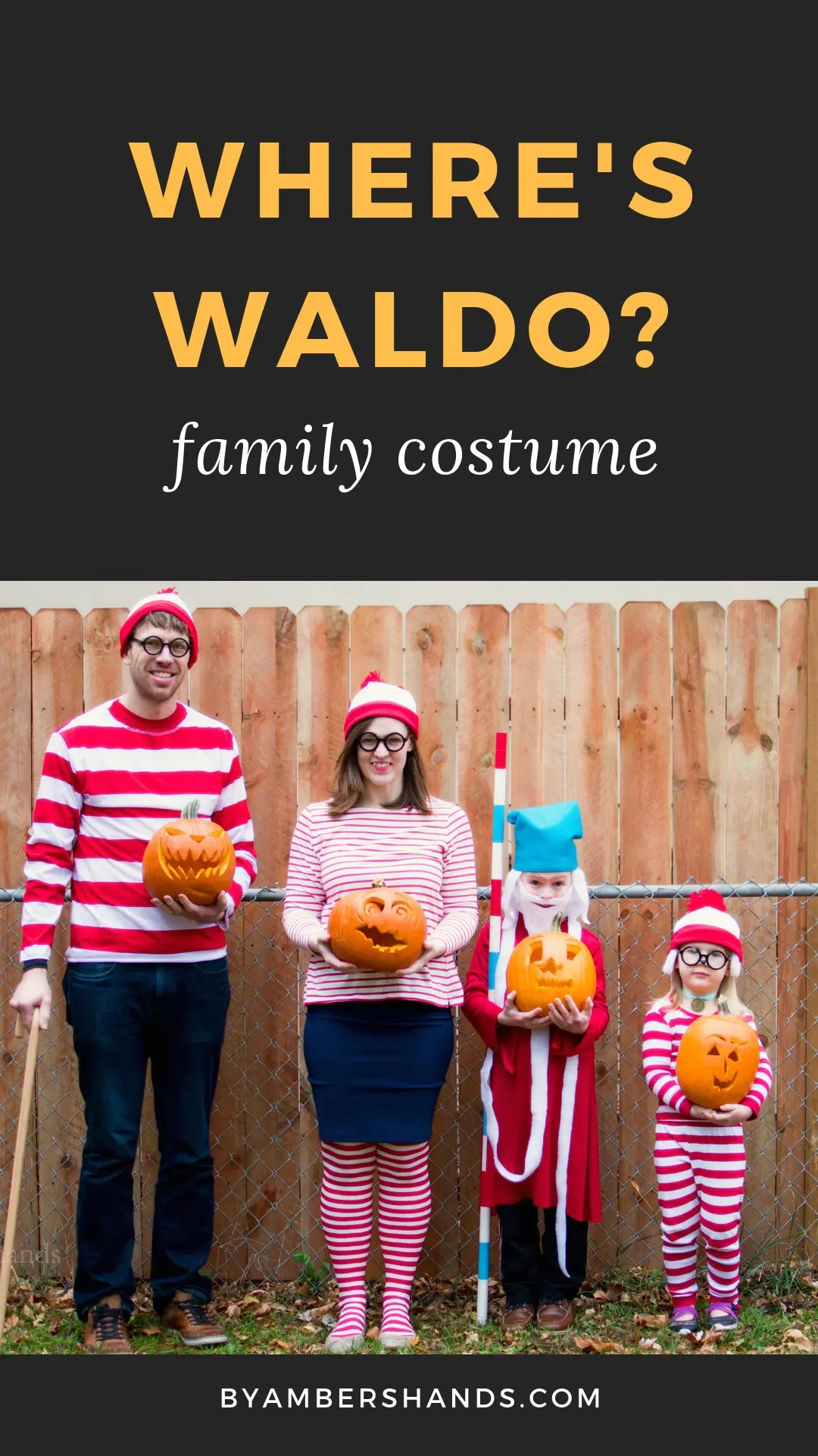 Find out how to create a Where's Waldo costume for the whole family! #halloween #waldo #family #costume