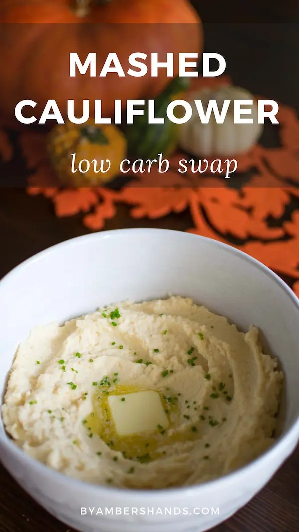 Easy low carb mashed potato swap! Eat healthier while still enjoying comfort foods! #lowcarb #keto #dinner #swap #holidays