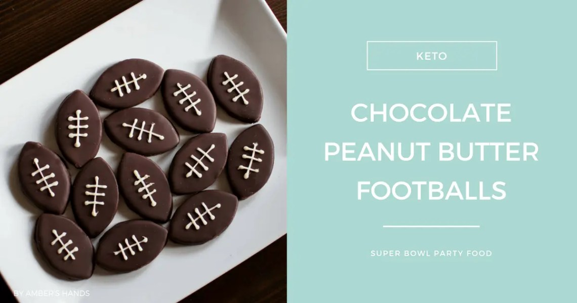 Chocolate Peanut Butter Footballs -by amber's hands-