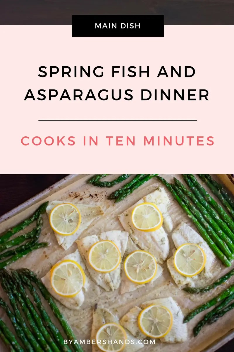 Lemony Fish And Asparagus Sheet Pan -by amber's hands-