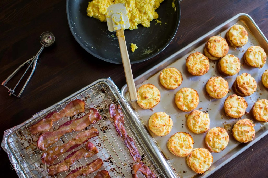 Assembling Egg & Bacon Biscuit Sandwiches