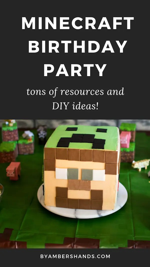 This post has SO many great ideas for pulling together and easy Minecraft birthday party! #minecraft #birthday #party #kids #boys #girls