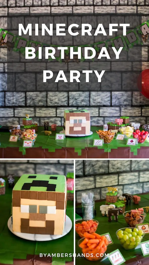 Get tons of ideas for an easy Minecraft birthday party! #birthday #kids #party #minecraft