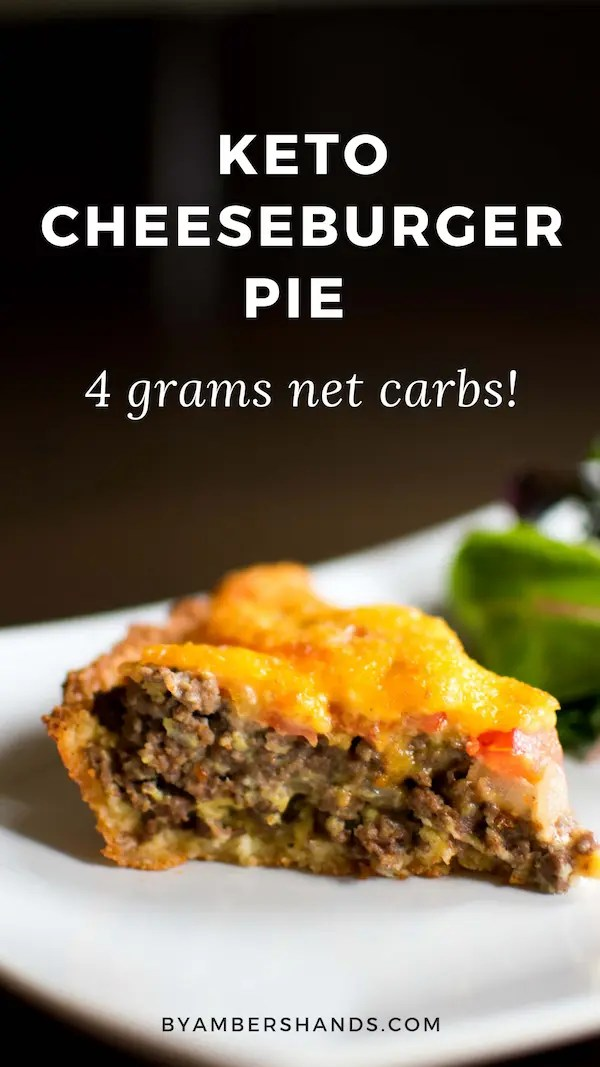 This Keto Cheeseburger Pie is only 4 grams of net carbs and is SO EASY to make! #lowcarb #keto #dinner #easy