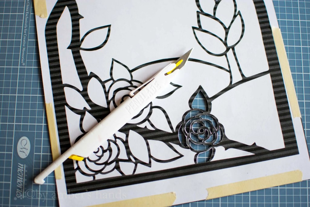 Stained Glass Suncatcher Craft -by amber's hands-
