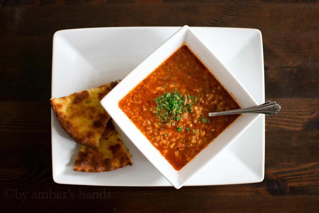 """Keto Hamburger """"Rice"""" Soup -by amber's hands-"""