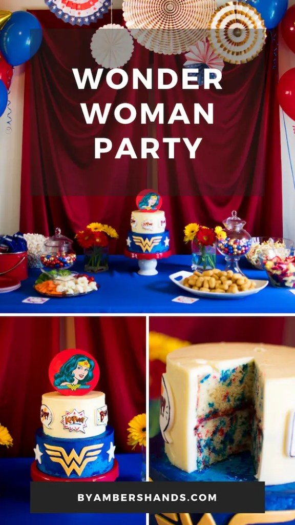 All the details of this 5-year-old's Wonder Woman Birthday Party! #birthday #party #kid #girl #wonderwoman