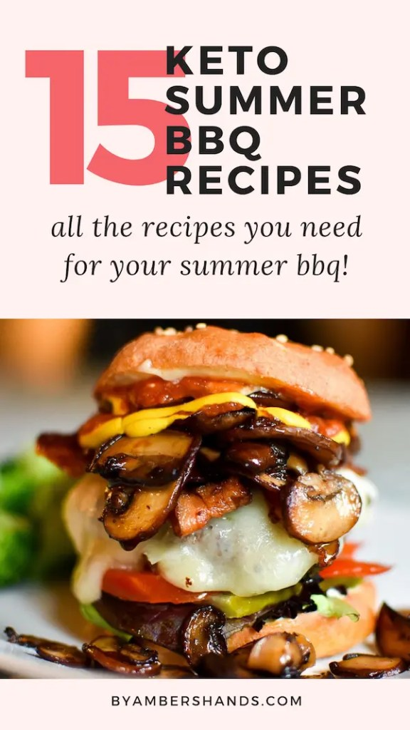 From main dishes to sides, to drinks and desserts, this list of low carb BBQ recipes has everything you need to celebrate this summer! #summer #bbq #keto #lowcarb #glutenfree #grainfree #4thofJuly #cookout #barbecue #grilling