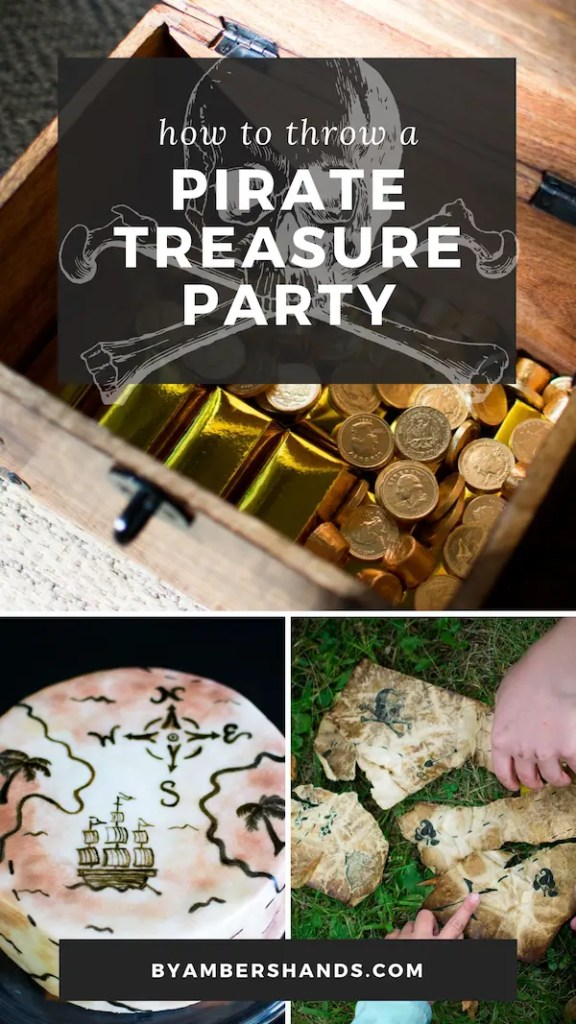 Throw an epic Pirate Treasure Party! Find out how to do it without making yourself crazy! #party #pirates #birthday #boy #girl #kids #treasure #treasurehunt