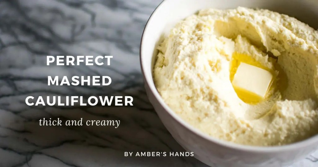 Perfect Mashed Cauliflower -by amber's hands-