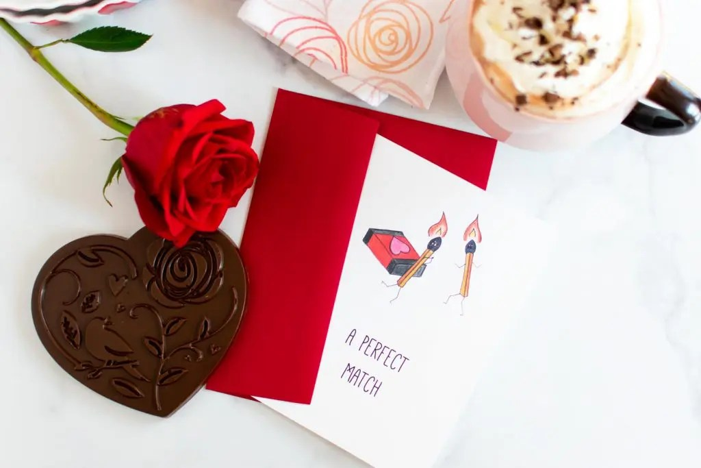 Perfect Match Valentine Card -by amber's hands-