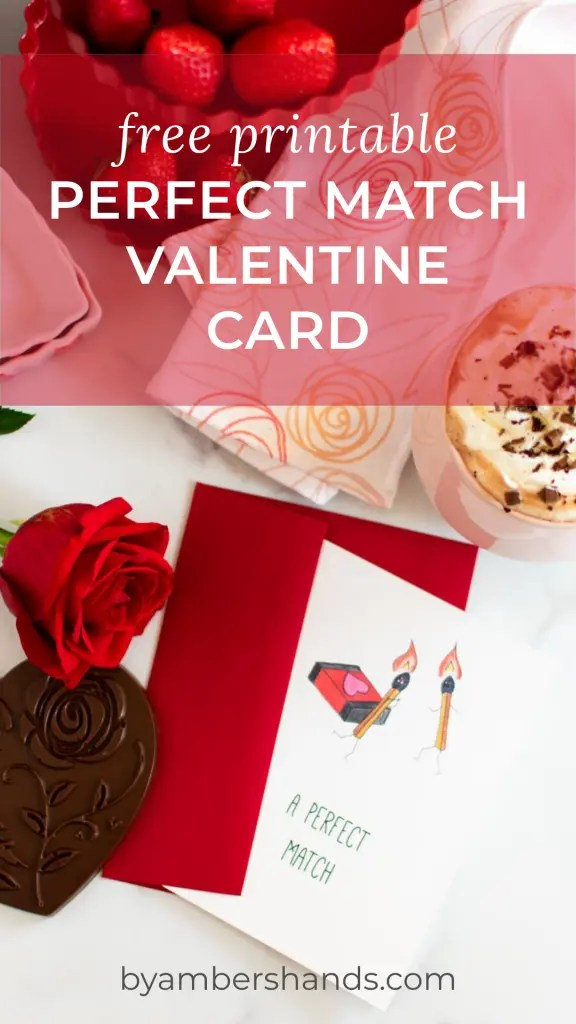 FREE PRINTABLE Valentine Card! Give this fun and flirty card to your sweetheart this year to let them know how hot your love is! #free #printable #valentine #card #perfectmatch #hot #love #valentinesday