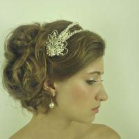 A Twist of Elegance Wedding Hair Band