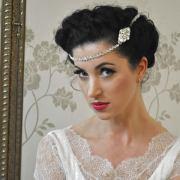 wedding hair chain - time