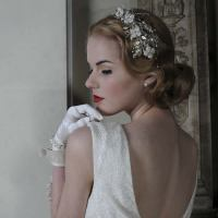Wedding Hair Band - Goddess Garden  Handmade