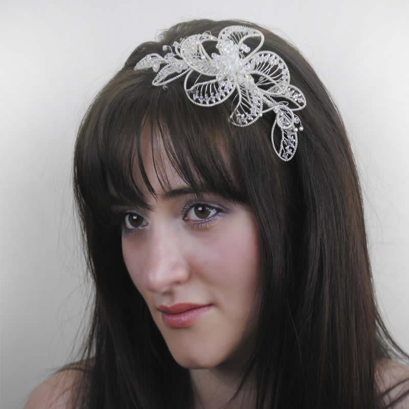 Wedding Headdress Royale Sparkle Handmade
