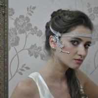 Wedding Hair Chain - Dewdrop Glow - Handmade