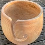 garnskål trædrejning asketræ