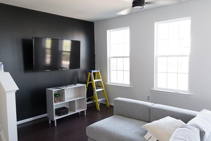 New House Progress My Tricorn Black Living Room