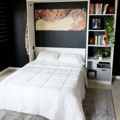 Diy Murphy Bed Over Sofa Modern Sleeper With Chaise Office Guest Bedroom Playroom Combo