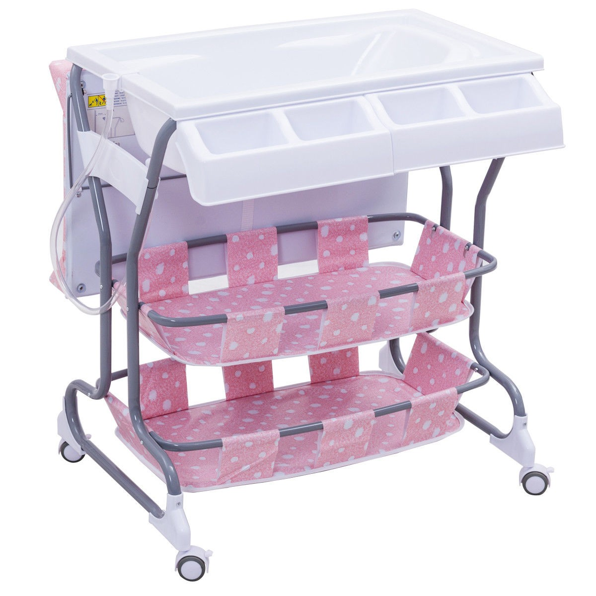 Infant Baby Bath Nursery Storage Changing Table – By Choice Products