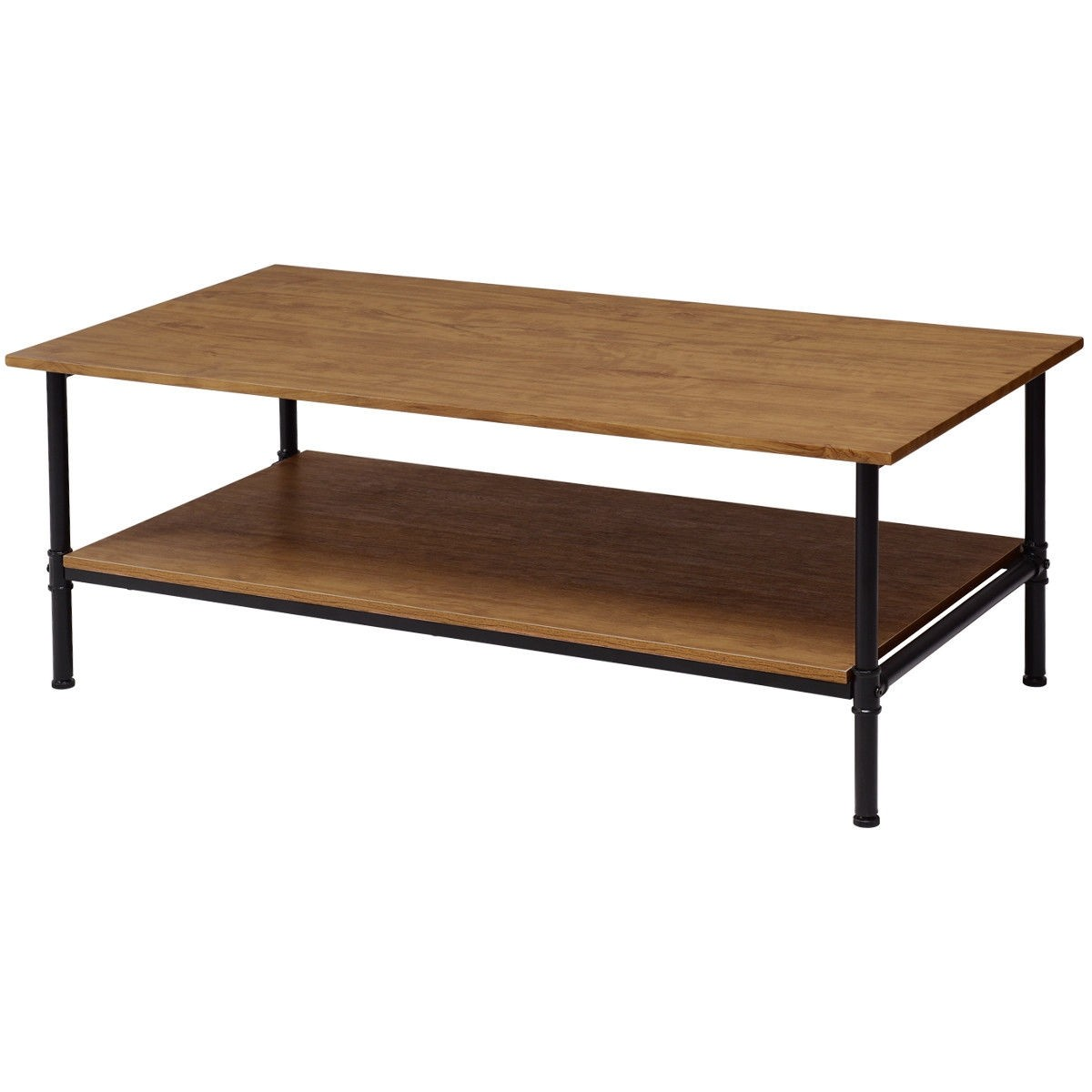 Rectangle Metal Frame Cocktail Coffee Table with Storage Shelf - By Choice Products