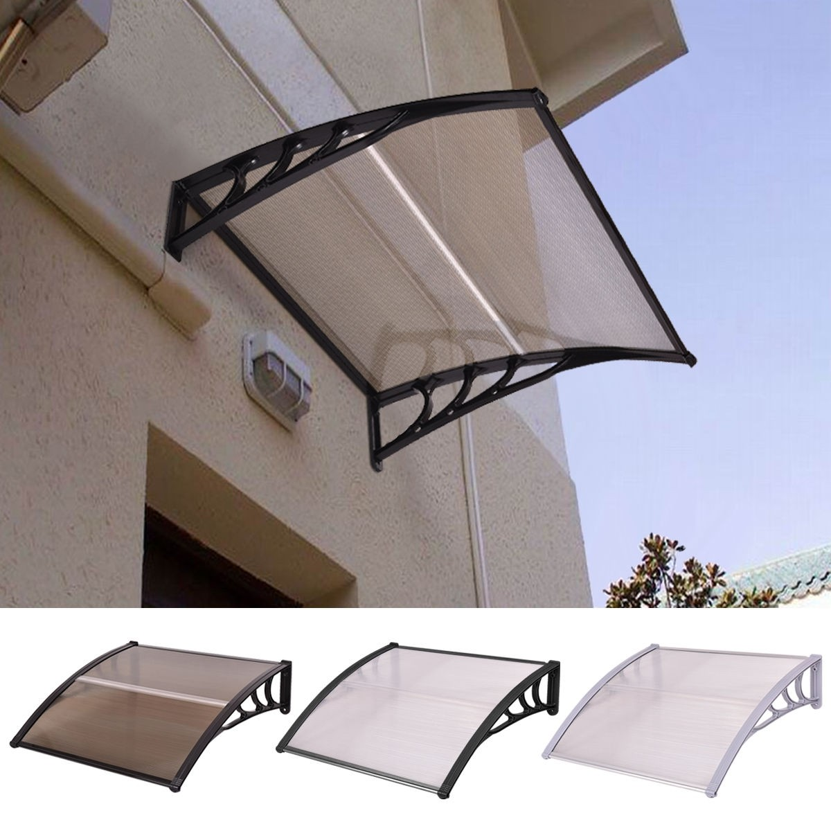 Youu0027re viewing 40u2033 x 40u2033 Outdoor Polycarbonate Front Door Window Awning Canopy - Login to see prices - & 40u2033 x 40u2033 Outdoor Polycarbonate Front Door Window Awning Canopy u2013 By ...