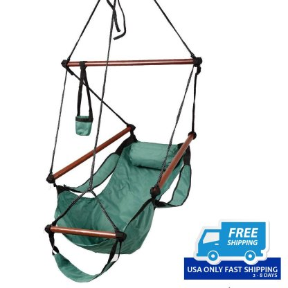 Blue / Green / Red / Tan Outdoor Hanging Chair Hammock