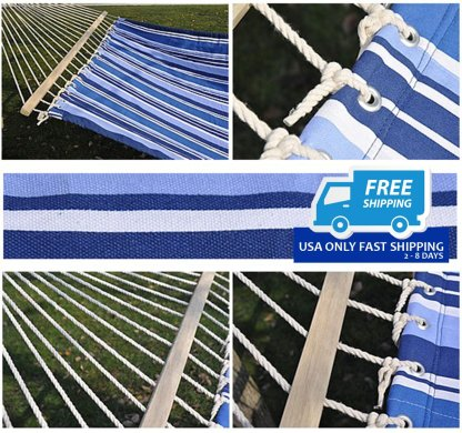 Double Size Quilted Fabric Heavy Duty Hang Bed