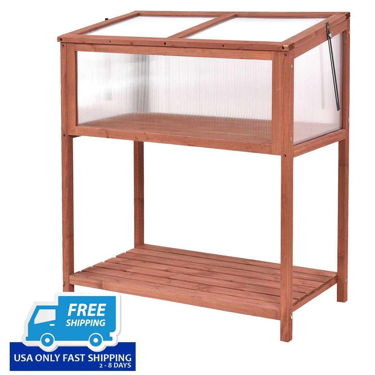Garden Portable Wooden Cold Frame Greenhouse – By Choice Products
