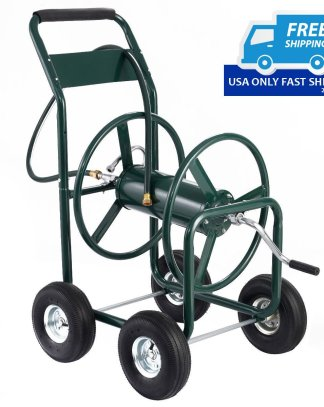 300 ft Garden Yard Water Planting Hose Reel Cart