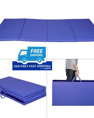 "New 4'x8'x2"" Gymnastics Mat Folding Panel Gym Exercise Yoga Mat Pad"