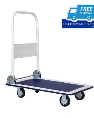 330lbs Platform Cart Dolly Folding Foldable Moving Warehouse Push Hand Truck New