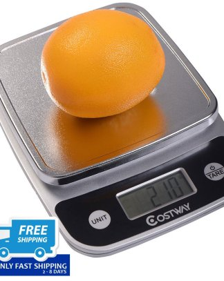 11lb x 0.04oz LCD Digital Kitchen Weight Scale 5Kg x 1g Food Diet Postal Slim
