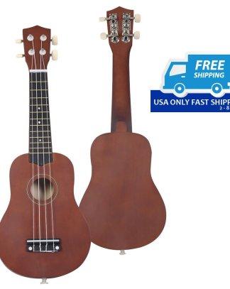 """21"""" Coffee 4-String Acoustic Ukulele Guitar"""