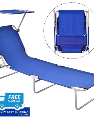 Foldable Relaxing Lounge Beach Chair