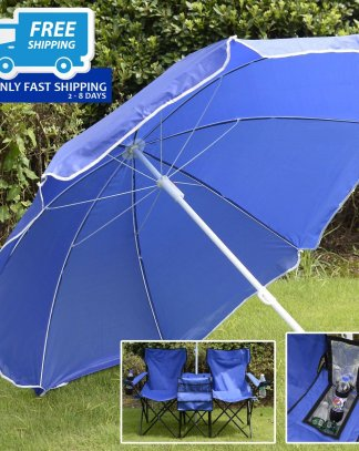 Folding Picnic Chair with Umbrella