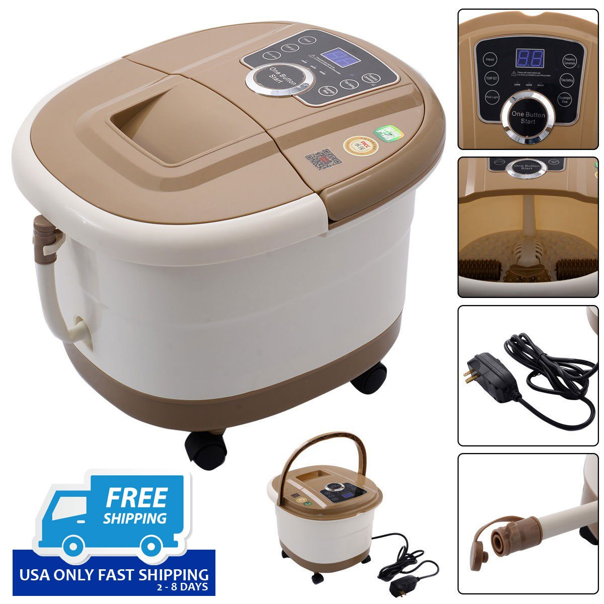 Portable Spa Bath Foot Massager with LED Display – By Choice Products