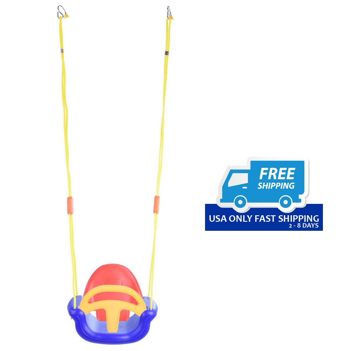 3 In 1 Infant To Toddler Swing Set Secure Detachable Outdoor Play