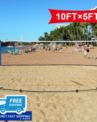 "Portable 10"" x 5"" Badminton Beach Tennis Training Net"