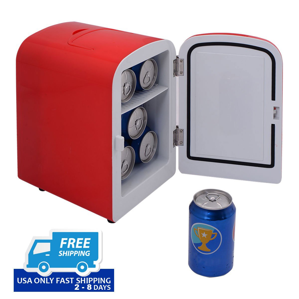 small portable office. Portable Mini Fridge Cooler And Warmer Auto Car Boat Home Office AC \u0026 DC Red Small 0