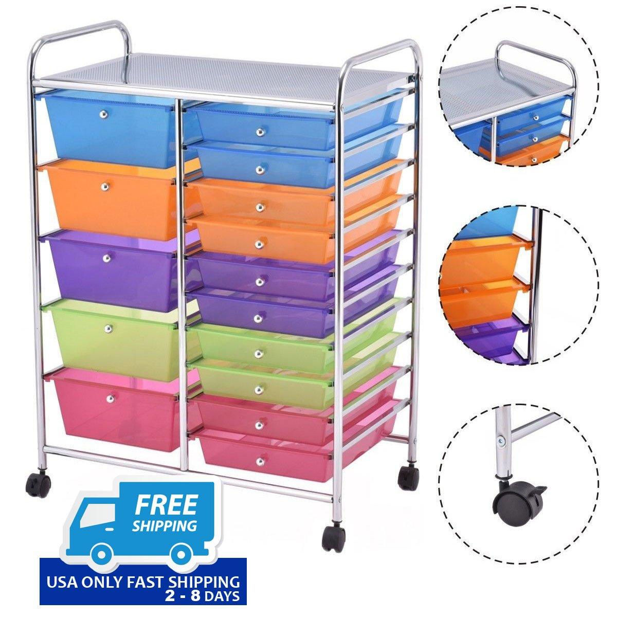 15 Drawers Rolling Storage Cart Organizer  sc 1 st  By Choice Products & 15 Drawers Rolling Storage Cart Organizer u2013 By Choice Products