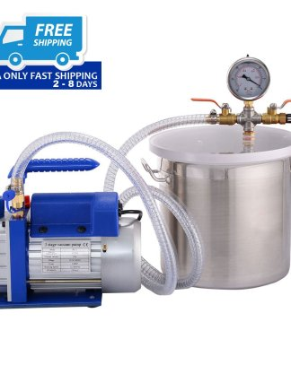 2 Gallon Vacuum Chamber and 3 CFM Single Stage Pump Degassing Silicone Kit