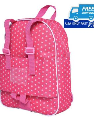 "18"" Doll Travel Carrier Backpack School Bag"