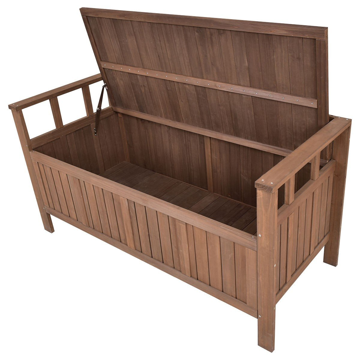 Tremendous 70 Gallon 2 In 1 Outdoor Garden Bench Storage Deck Box Evergreenethics Interior Chair Design Evergreenethicsorg